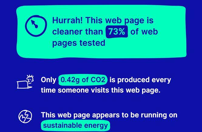 Mi web es sostenible