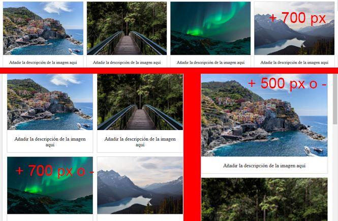 Resultado de cómo crear una galería de imágenes responsive